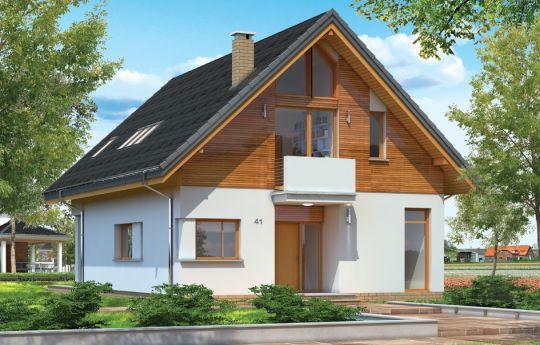 Проект дома  Простой - визуализация, вид спереди