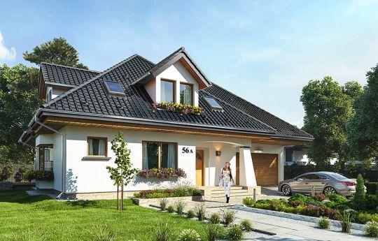 Проект дома Agnieszka 3 B - вид спереди
