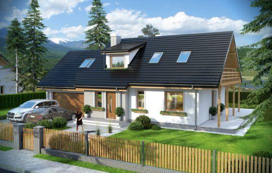 Проект дома Бриз 4 - вид спереди