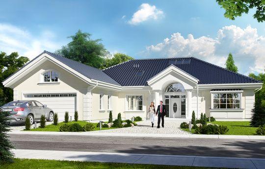 Проект дома Парковая Вилла 2- вид спереди