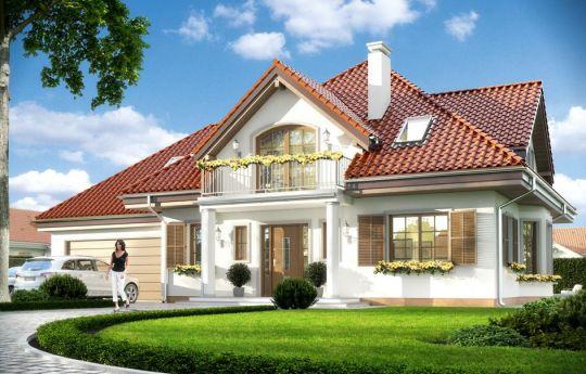 Проект дома Ромео - визуализация, вид спереди