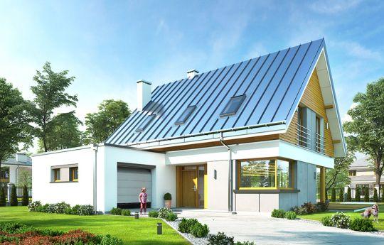 Проект дома Викинг 2 - вид спереди