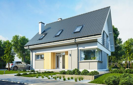 Проект дома Викинг 3 - вид спереди