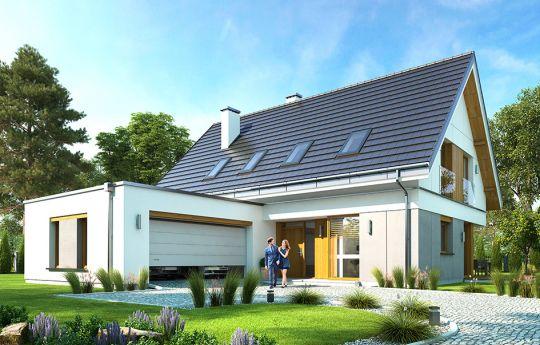 Проект дома Викинг - вид спереди