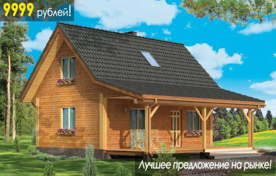 Проект дома  Перепелка - визуализация, вид спереди