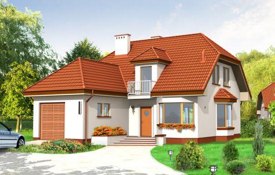 Проект дома Уютный - визуализация, вид спереди