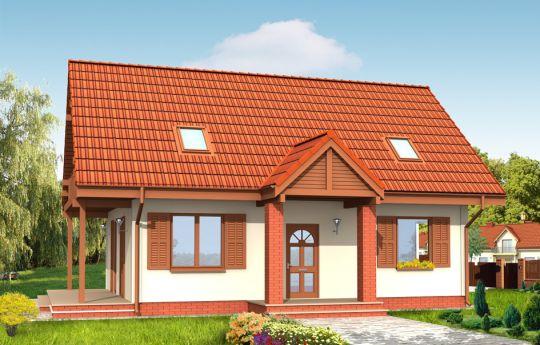 Проект дома Радостный  - визуализация, вид спереди