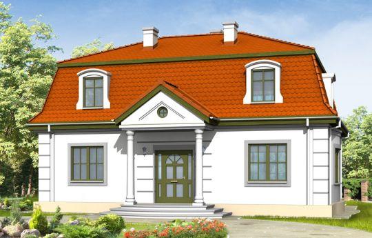Projekt domu Retro - wizualizacja frontu