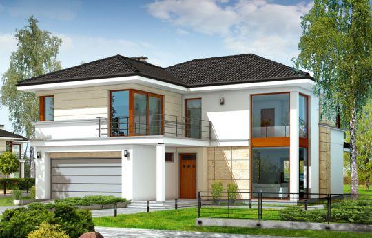 Проект дома Ривьера - визуализация, вид спереди