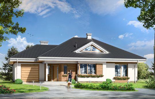 Проект дома Развитой - визуализация, вид спереди