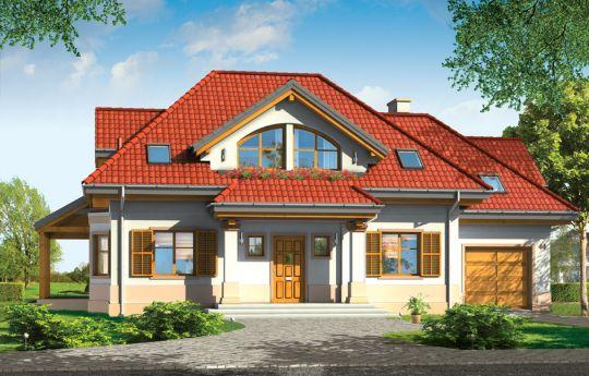 Projekt domu Rubin 2 - wizualizacja frontu