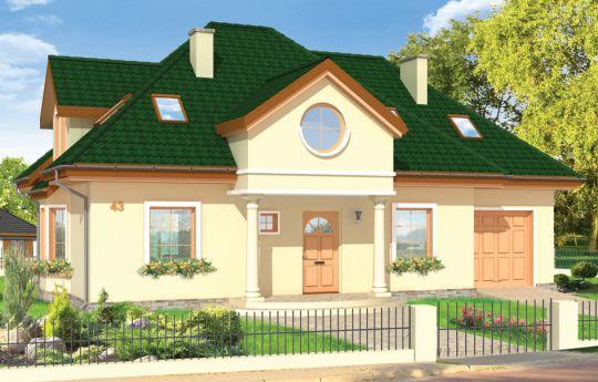 Проект дома Сага - визуализация, вид спереди