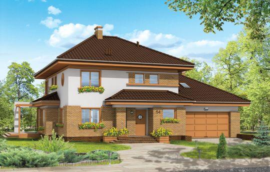 Проект дома Сладкий - визуализация, вид спереди