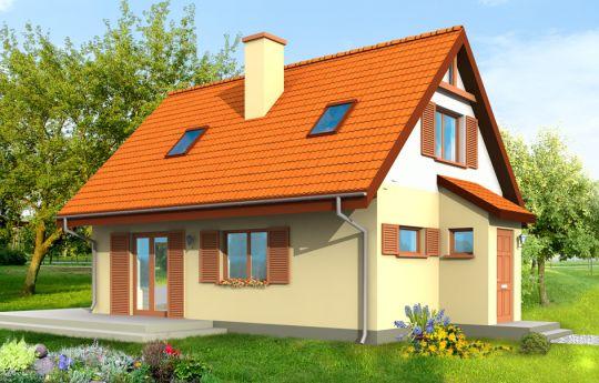 Проект дома Смык - визуализация, вид спереди