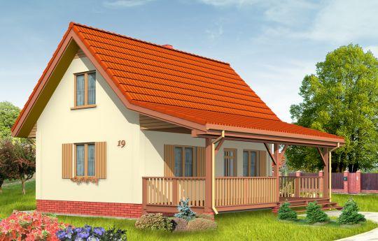 Проект дома Сосенка 2 - визуализация, вид спереди