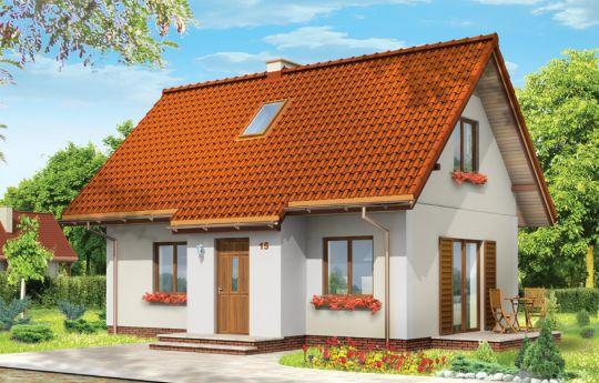 Проект дома Сосенка 3 - визуализация, вид спереди