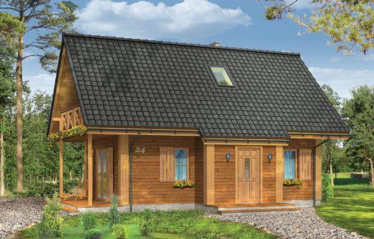 Проект дома Сосенка 4 - визуализация, вид спереди