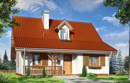 Проект дома Сосенка 5  - визуализация, вид спереди