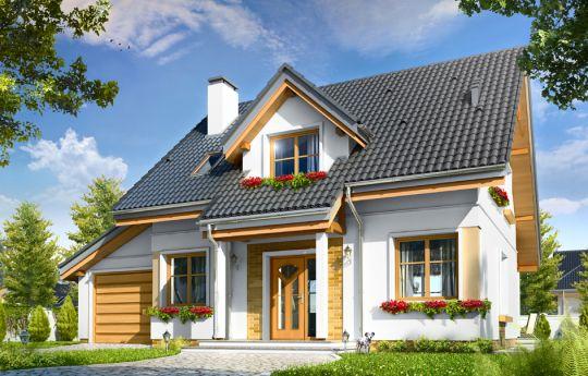 Проект дома Спокойный - визуализация, вид спереди