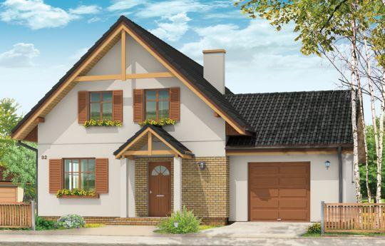 Projekt domu Sylwia - wizualizacja frontu