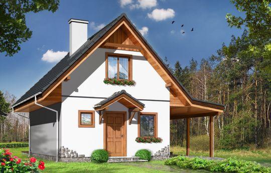 Проект дома Шарейка - визуализация, вид спереди