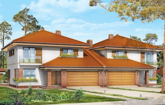Projekt domu Szmaragd 2 - wizualizacja frontu