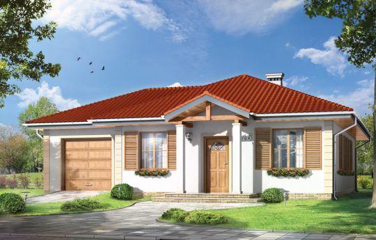 Projekt domu Urwis 2 - wizualizacja frontu