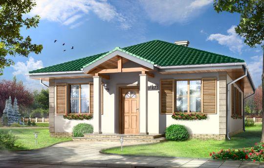 Проект дома Урвис - визуализация, вид спереди