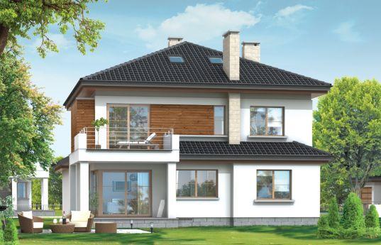Projekt domu Vega - wizualizacja frontu