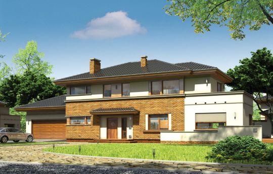 Projekt domu Verona - wizualizacja frontu