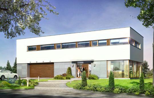 Projekt domu Vertigo - wizualizacja frontu