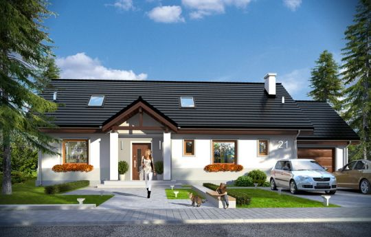 Projekt domu Anatol 2 - wizualizacja frontu
