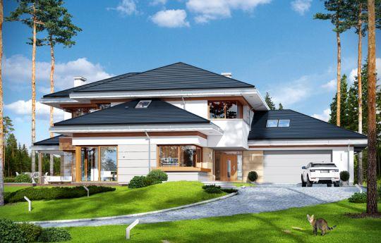 Проект дома Дом с видом - вид спереди