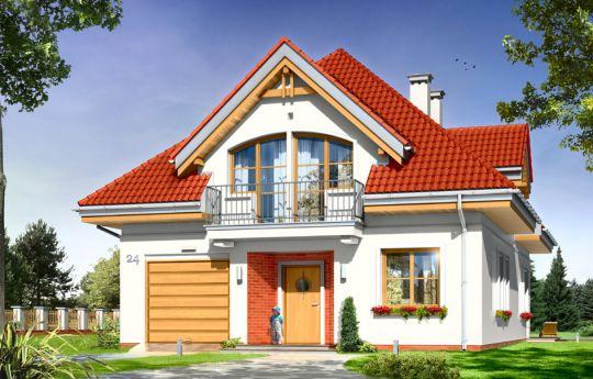 Проект дома Вероника - визуализация, вид спереди