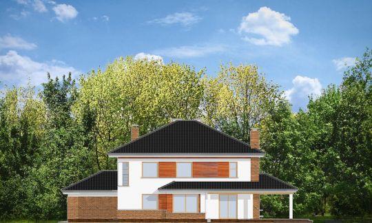 Проект дома Вилла на Боровой вид сбоку