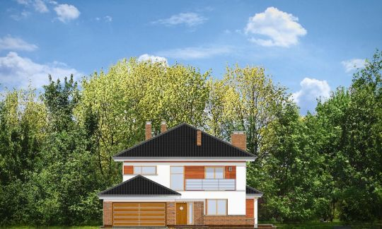 Проект дома Вилла на Боровой вид спереди