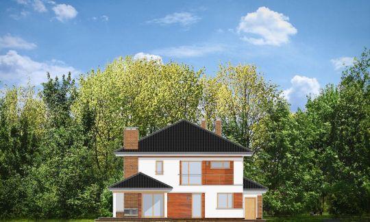 Проект дома Вилла на Боровой вид сзади