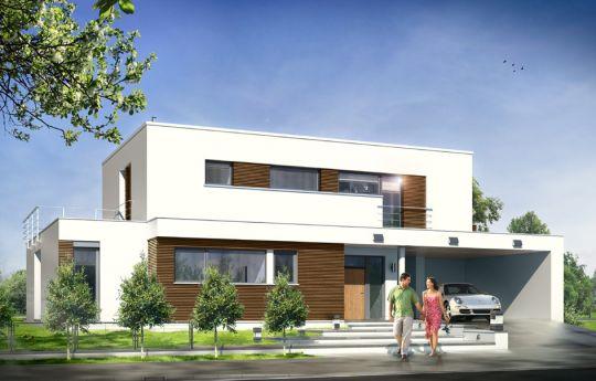Projekt domu Willa l' Azur - wizualizacja frontu