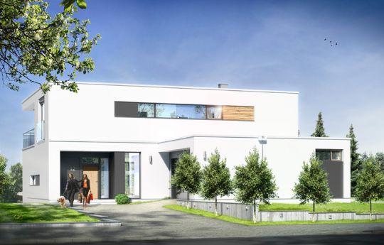 Projekt domu Willa Słoneczna - wizualizacja frontu