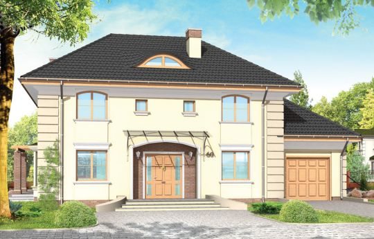 Projekt domu Willowy - wizualizacja frontu
