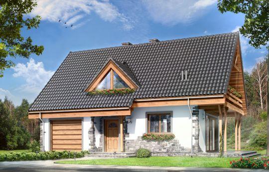Проект дома Виселка - визуализация, вид спереди