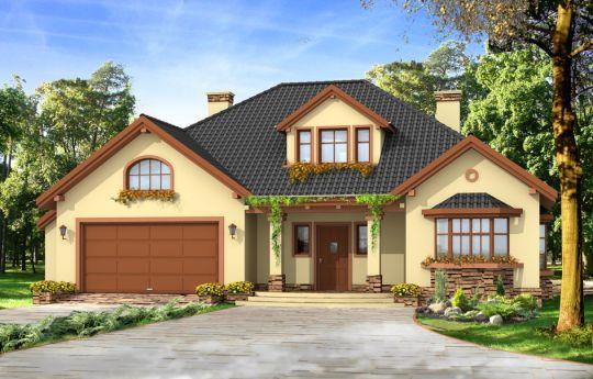 Проект дома Затишье 2 - визуализация, вид спереди