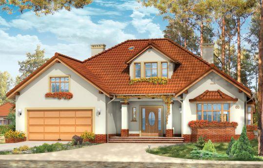 Projekt domu Zacisze 3 - wizualizacja frontu