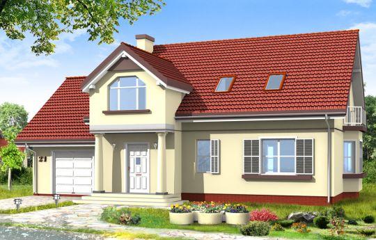 Projekt domu Zgrabny 4 - wizualizacja frontu