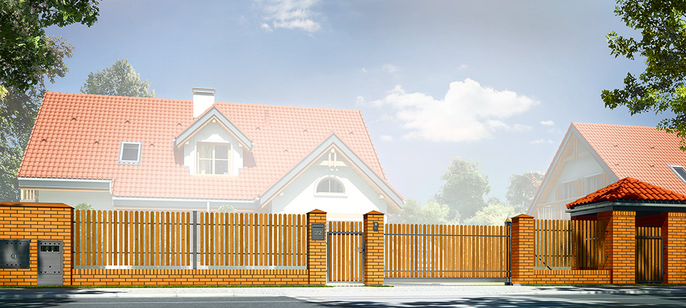 Ogrodzenie murowane 2